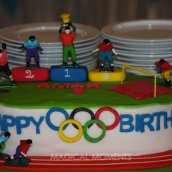 Mini Olympic Themed Birthday Party